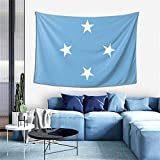 ZHYY Flag of The Federated States of Micronesia Tapestry Wall Hanging Decoration Tapestries for Bedroom Living Room Dorm Indoor Home Decor (60x40 inch)