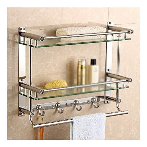ZWJ Frame voor de badkamer van gehard glas met aluminium rail en doucherek van gehard glas, extra dik, IG