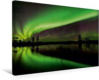 Premium - Lienzo de tela (45 x 30 cm, horizontal, imagen sobre bastidor, imagen sobre lienzo auténtico, impresión sobre lienzo, imagen clara se refleja en un lago (CALVENDO Natur);CALVENDO Natur