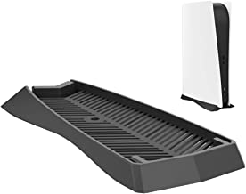 CONNYAM Vertical Stand for PS5 Digital Edition, Stand for Sony Playstation 5 DE Console with Built-in Air Vents and Non-Sl...