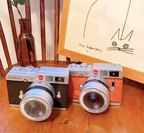 EUREKA エウレカ カメラ缶チョコレート 望遠レンズ付き お洒落 バレンタイン (ブラック)