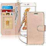 FYY iPhone 6S Plus Coque, Coque iPhone 6 Plus, [Or Luxueux] Étui en Cuir de...