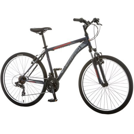 26' Schwinn Sidewinder Men's Mountain Bike, S2600WMNDS, Matte Black/Red