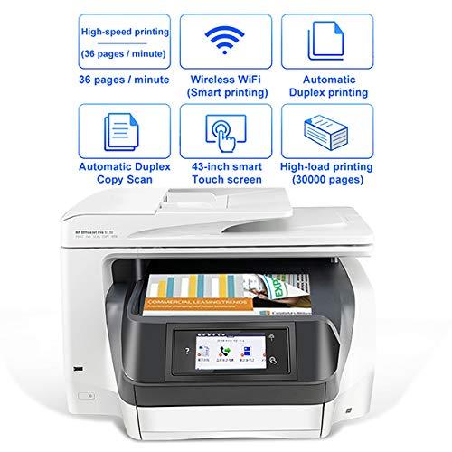 TANCEQI Multifunktionsdrucker, Gewerbe All-In-One Tintenstrahl-Systeme(Automatischer Duplexdruckkopie-Scan, 4,3-Zoll-Smart Touch-Screen, A4, Unterstützung Drahtlose/Verdrahtete Netzwerkdruck)