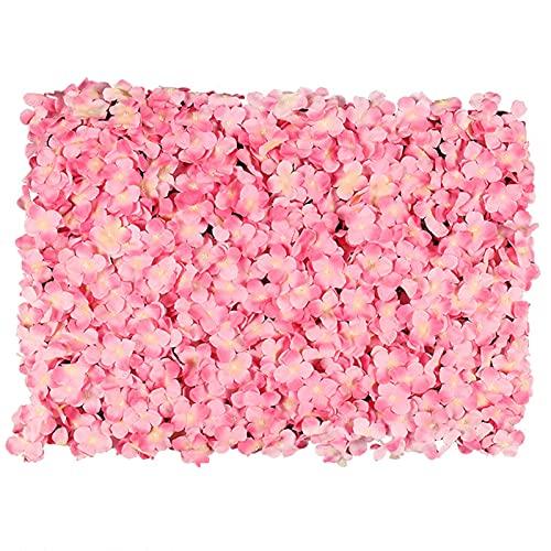YNGJUENCP Panel De Flores para La Flor De La Flor Fondo De La Flor De Bodas Decoración De Eventos Nupcial Y Baby Shower Y Fotografía Decoración (Verde Rosa)(Size:6pcs,Color:01)