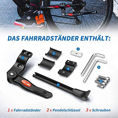 WATSABRO Fahrradständer Einstellbare Universal Fahrradständer Unterstützung für Fahrrad Mountainbike Rennrad mit Raddurchmesser 18 20 22 24 26 27 27,5 Zoll - 7