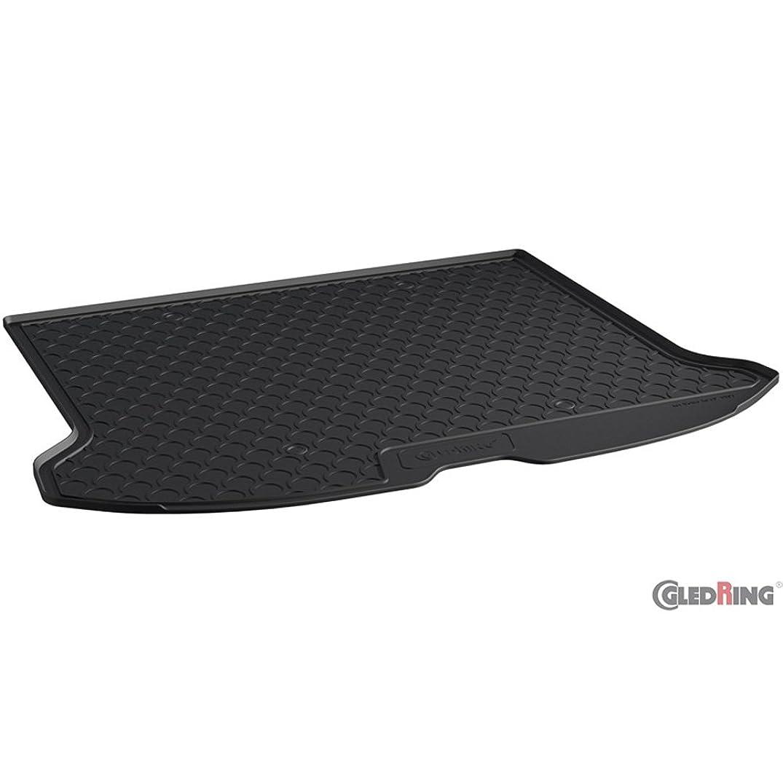 Gledrin1903 Rubbasol (Rubber) Trunk Mat 2008-2016 (Narrow Spare Tyre), Black