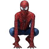 zuozhe bambino spiderman homecoming costume adulto vestito da supereroe unisex halloween carnival 3d stampa spandex lycra spider-man - costume cosplay tuta,a-(110~120cm)