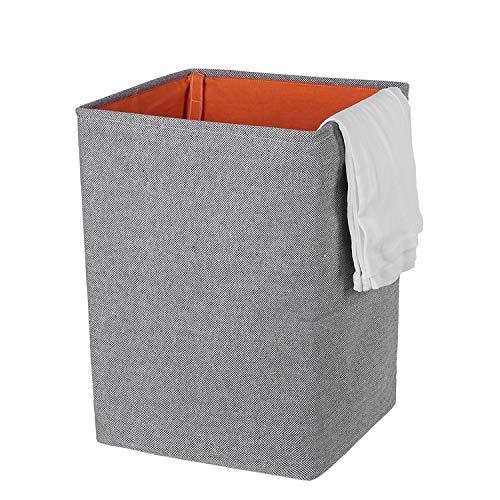 ランドリーバスケット 洗濯用かご 大容量 撥水加工 防潮 高品質収納ボックス ランドリーボックス 雑貨収納 折りたたみ可能 取っ手付き(61L 35 * 35 * 50cm)