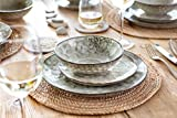 Sänger Dinner Service Pompei aus Porzellan 12 teilig für 4 Personen | Füllmenge der Schalen 700 ml | Tellerset im Vintage-Stil Grau Braun, Geschirrset, Porzellanservice - 6