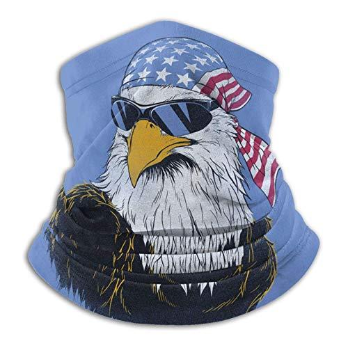 Neck Warmer Águila Patriótica con Gafas De Sol Pañuelo Deportivo Sin Costuras Pañuelo De Tubo Sol UV Motocicleta Protección contra El Polvo Pasamontañas Aire Libre Polaina De Cuell
