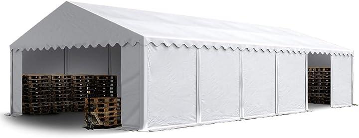 Tendone deposito 6 x 12 m pvc ca. 500g/m² bianco gazebo magazzino tenda capannone toolport B014HQOGPC