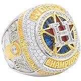 XXJJ 2018 Football Championship Ring, Houston Fan Ring Boy Environmentally Friendly Zinc Alloy Ring (US Size 9-13) 12