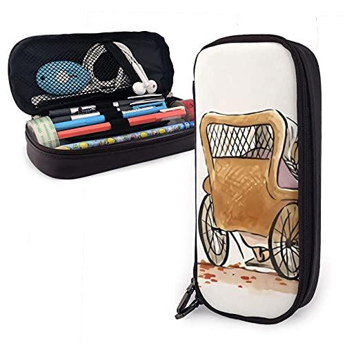 Estuche grande para lápices de guitarra Coco, organizador de papelería de gran capacidad con compartimentos para niñas y adultos
