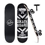 BELEEV Skateboard 31x8 Zoll Komplette Cruiser Skateboard für Kinder Jugendliche Erwachsene,...