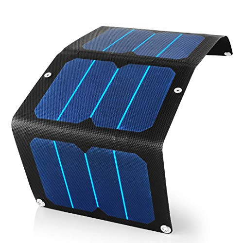 13W Solar Charger for USB & Phone   Premium Portable Solar Panel   Highest Efficiency Cells   Waterproof, Ultra Tough Material, Super Compact & Folding for Camping Backpack Hiking Emergency Power