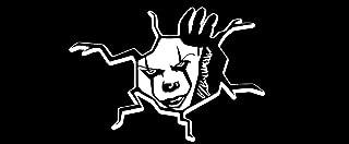 Pennywise Trunk Peek Crack Decal Sticker Peeking it (White for Dark Cars)