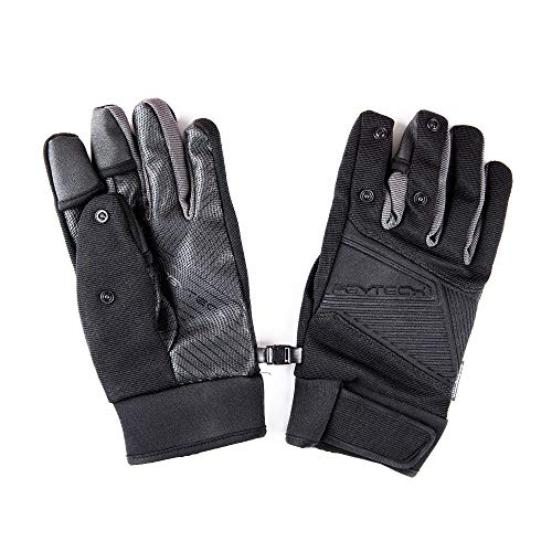 PGYTECH Photography Gloves Windproof Outdoor Mountaineering Ski Riding Flip Waterproof Touch Screen Multifunction Flying Gloves (L)