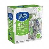 Berkly & Jensen 1.2mil Industrial Drum Liner Bags, 55 Gallon, 50 Bags