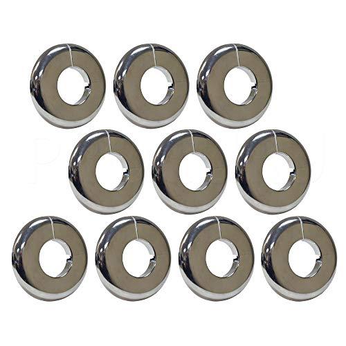 PROCURU 1/2-Inch CTS Split Plastic Lightweight Escutcheon Cover Plate, for 1/2' Copper Pipe (10-Pack)