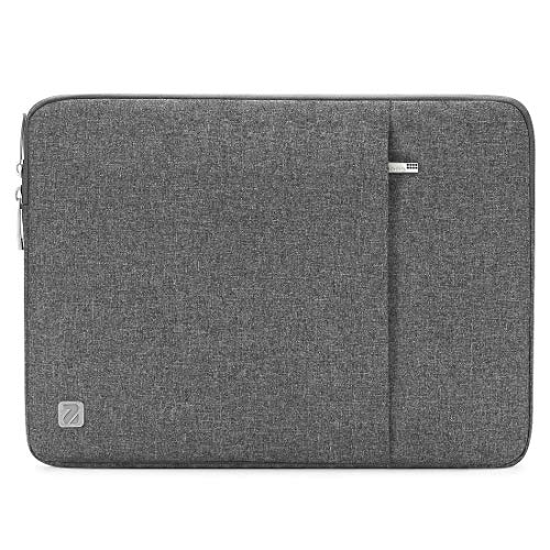 NIDOO waterproof material laptop sleeve, case, portable notebook bag, pouch, scratch-resistant protective case, bag, protective cover grey 14 Inch