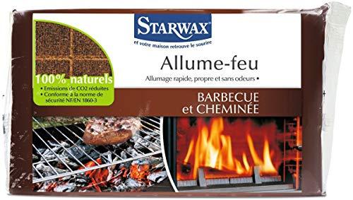 BRUNEL STARWAX Allume feu Base Naturelle, Marron, 185 x 115 x 20 cm