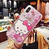 YUJINQ - Carcasa para Samsung A50, A30s, A50s, diseño de Hello Kitty con purpurina, color transparente, TPU acrílico, rosa, for Samsung A50
