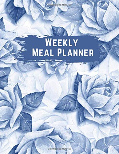 Weekly Meal Planner: Cute 8.5x11 Weakly Meal Planner Notebook with Grocery List on A Budget Journal Book for Women & Vegan | Weekly Grocery Shopping ... | Plan Your Meals Weekly with Meal Tracker