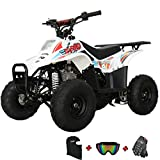 X-PRO Bolt 110 110cc ATV Quad Youth ATVs Quads 110cc 4 Wheeler ATVs Size ATV 4 Wheelers with Gloves, Goggle and Face Mask(Pink)