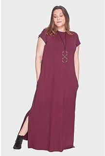 Vestido com Fenda Plus Size
