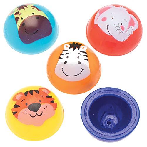 Baker Ross Jouets sauteurs Animaux de la jungle(Paquet de 12)- Mini jouets pour enfants