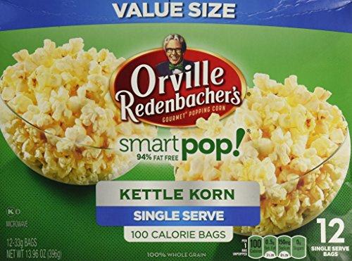 Orville Redenbacher Smart Pop Kettle Korn Mini Bags, 12-Count (Pack of 3)
