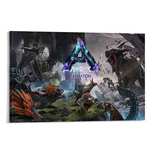 ASDUN Ark Survival Evolved Aberration Leinwand-Kunstposter und Wandkunstdruck, modernes Familienschlafzimmerdekor, 30 x 45 cm
