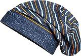 Playshoes Mütze, Bademütze Ringel mit UV-Schutz, Babymütze, Blau (Jeansblau), Mittel (Herstellergröße: 53cm)
