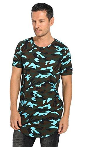 Black Kaviar - MASKO - T-Shirt Herren - Camouflage/blau 06060119B - L, Blau