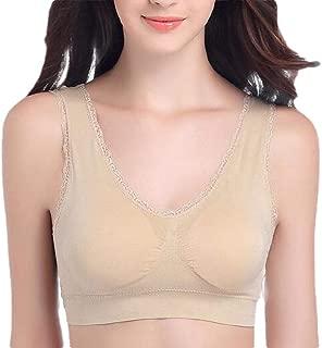 Women Lace Floral Sports Bra Wirefree Lingerie Bralette Yoga Sleep Bra