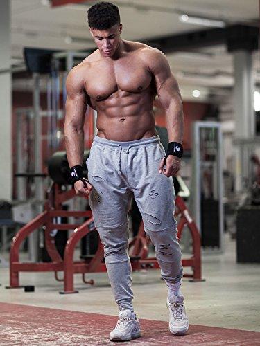 Handgelenkbandagen – für Kraftsport, Bodybuilding, Krafttraining, Crossfit & Fitness – für Damen und Herren – zum Schutz der Handgelenke beim Training – von Fitgriff - 6
