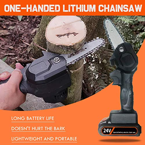 WEGSD Mini Chainsaw 4-Inch Cordless Electric Protable Chain Saw with Brushless Motor,(1.54lbs US Plug) Pruning Shears Chainsaw for Tree Branch Wood Cutting