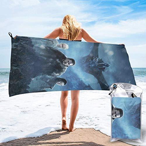 """angwenkuanku Juego de Tronos Toallas de baño de Secado rápido Manta de Toalla para Acampar, IR de excursión, Viajar, Nadar Ligero 50""""x 40"""""""