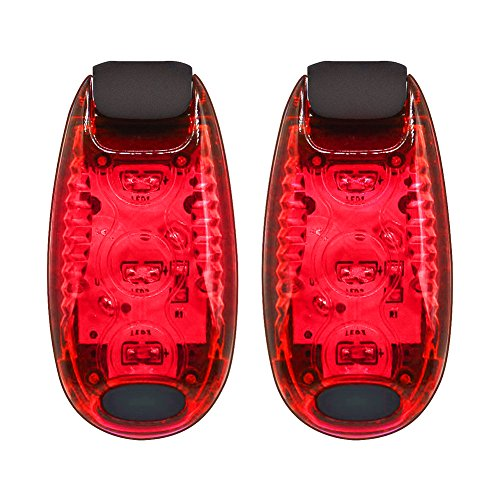N&F LED Safety Light (2 Pack), Bright Bicycle Rear Cycling Safety Light, 3 Modes, LED Bike Tail Light, The Best High Visibility Accessories for Your Reflective Gear, Bicycle etc (Red)