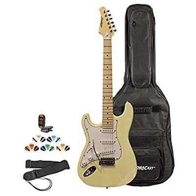 Sawtooth Left Handed ST Style Electric Guitar w/ 3-Ply Pickguard - Includes: Accessories, Gig Bag & Lesson