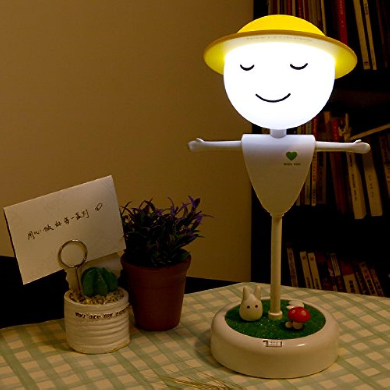 Thorecrdh Vogelscheuche intelligente Nachtlicht Vibration Induktionsaufladung Timing kreativen Spa Schlafzimmer Nachttischlampe Lampe, Storage Fonds warmen gelben Licht