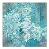 Bilderwelten Fotomural Premium - Winter flowers - Mural cuadrado papel pintado...