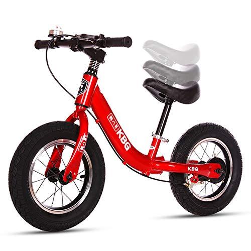 ERLAN Bicicletas sin Pedales Bicicletas de Equilibrio Red Girls con Asiento/Freno Ajustable,...