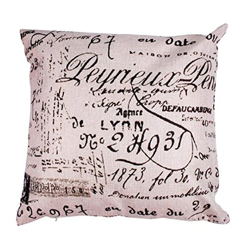 Vovotrade Two-sided Letter Pillow Case Sofa Waist Throw Cushion Cover Home Decor 50cm*50cm
