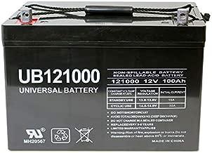 Universal Power Group 12V 100Ah Replacement Battery for Minn Kota, Minnkota, Cobra, Sevylor trolling Motor