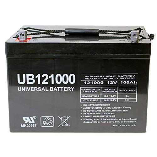 Universal Power Group 12V 100Ah Replacement Battery Compatible with Minn Kota, Minnkota, Cobra,...