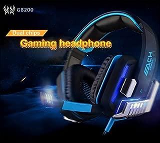 Mugen Power EACH G8200 Gamining Headphone 7.1 Surround USB Vibration Game Headset Headbank Earphone with Mic LED Light for PC Gamer PlayStation, XBox