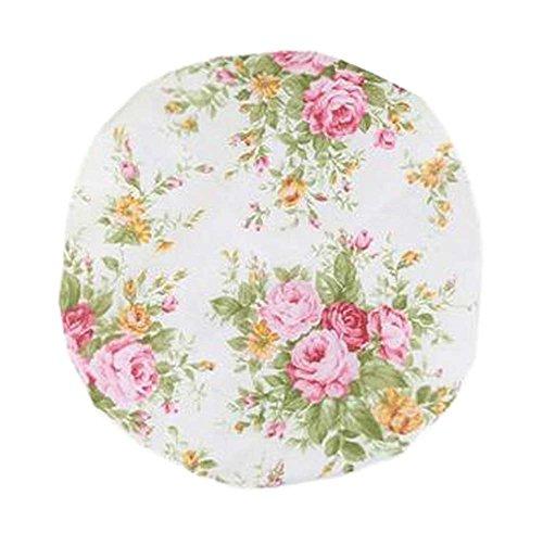 Bonnet de douche multifonction double couche, fleur-7