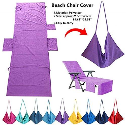 Laxllent Microvezel Zwembadhanddoek Strandstoel Handdoeken Cover Lounger Mate Sneldrogend voor Camping, Holiday Garden Lounge met Zakken